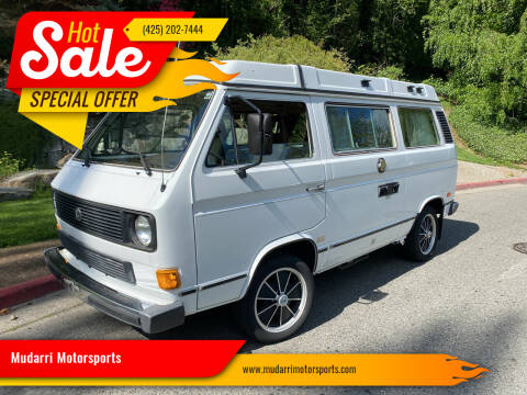 1984 Volkswagen Vanagon for sale at Mudarri Motorsports in Kirkland WA