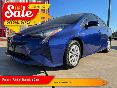 2017 Toyota Prius for sale at Premier Foreign Domestic Cars in Houston TX