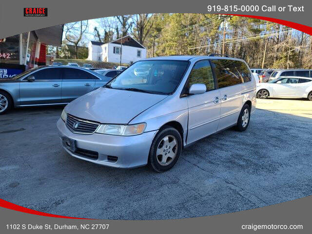 2001 Honda Odyssey for sale at CRAIGE MOTOR CO in Durham NC