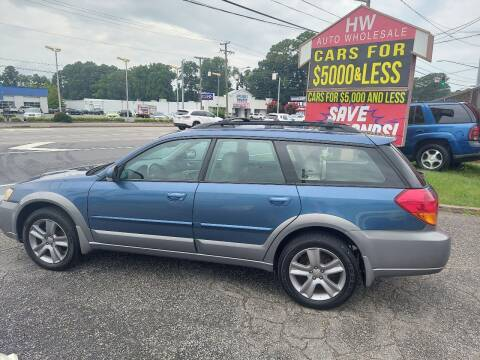 2005 Subaru Outback for sale at HW Auto Wholesale in Norfolk VA