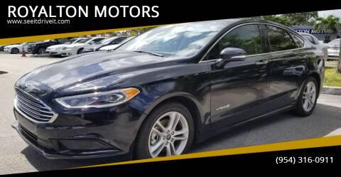 2018 Ford Fusion Hybrid for sale at ROYALTON MOTORS in Plantation FL