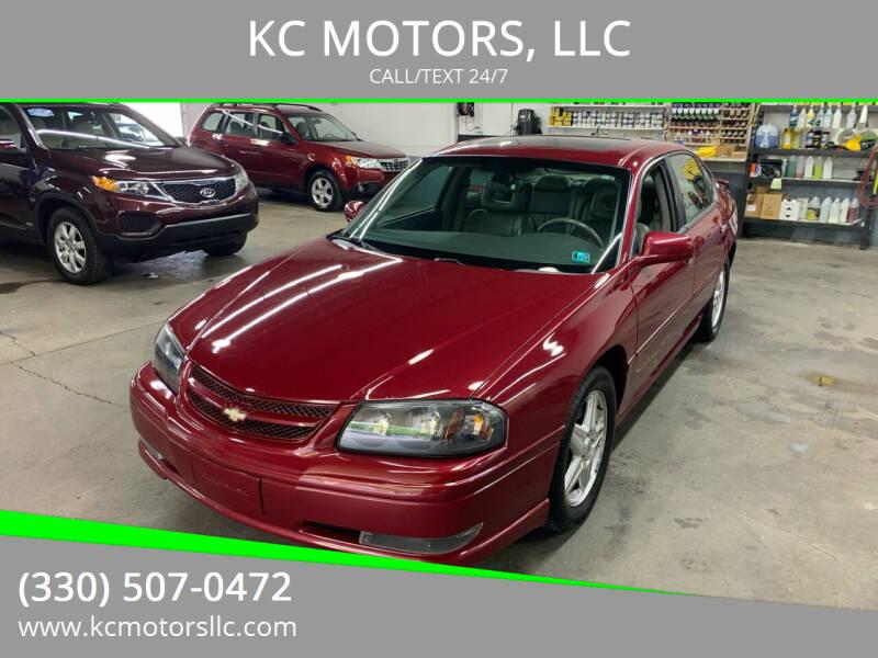 2005 Chevrolet Impala for sale at KC MOTORS, LLC in Boardman OH