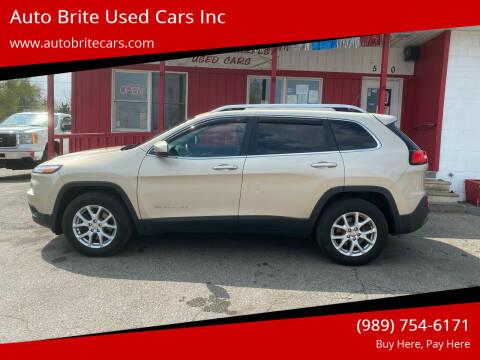 2015 Jeep Cherokee for sale at Auto Brite Used Cars Inc in Saginaw MI