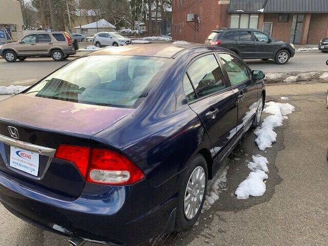 2010 Honda Civic for sale at MEANS SALES & SERVICE in Warren PA