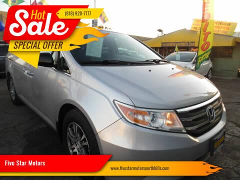 2013 Honda Odyssey for sale at Five Star Motors in North Hills CA