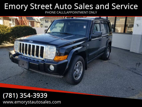 2008 Jeep Commander for sale at Emory Street Auto Sales and Service in Attleboro MA