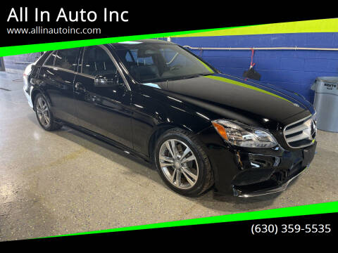 2015 Mercedes-Benz E-Class for sale at All In Auto Inc in Palatine IL