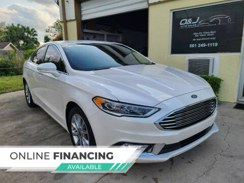 2017 Ford Fusion for sale at O & J Auto Sales in Royal Palm Beach FL