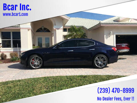 2016 Maserati Ghibli for sale at Bcar Inc. in Fort Myers FL