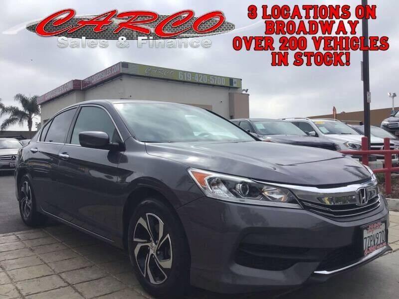 2017 Honda Accord for sale at CARCO SALES & FINANCE #3 in Chula Vista CA