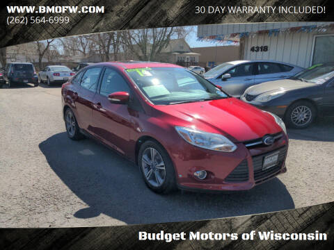 2014 Ford Focus for sale at Budget Motors of Wisconsin in Racine WI