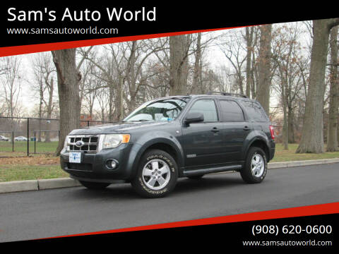 2008 Ford Escape for sale at Sam's Auto World in Roselle NJ