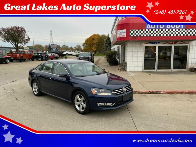 2015 Volkswagen Passat for sale at Great Lakes Auto Superstore in Pontiac MI