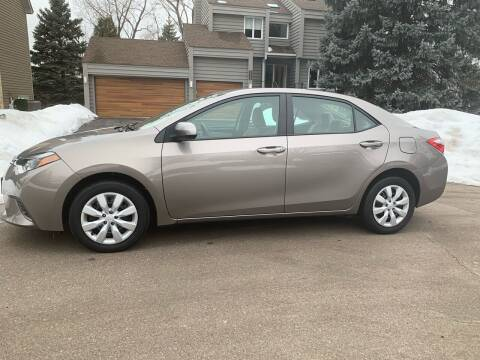 2015 Toyota Corolla for sale at You Win Auto in Metro MN
