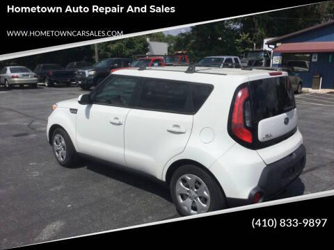 2015 Kia Soul for sale at Hometown Auto Repair and Sales in Finksburg MD