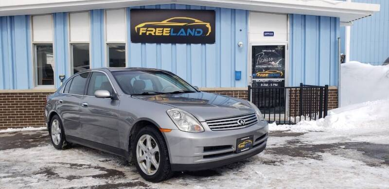 2004 Infiniti G35 for sale at Freeland LLC in Waukesha WI