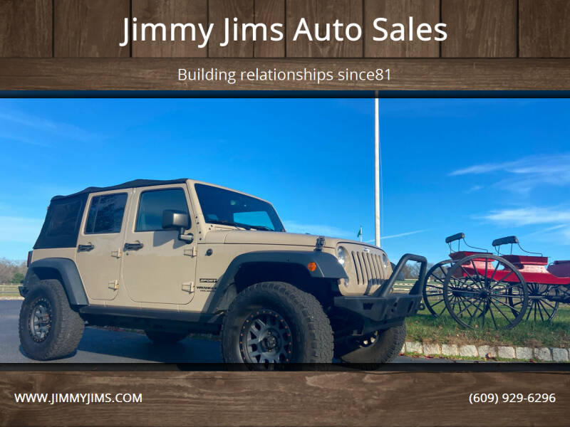 2016 Jeep Wrangler Unlimited for sale at Jimmy Jims Auto Sales in Tabernacle NJ