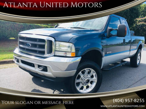 2004 Ford F-250 Super Duty for sale at Atlanta United Motors in Buford GA