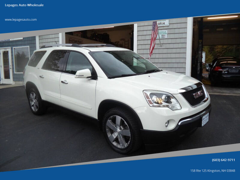 2012 GMC Acadia for sale at Lepages Auto Wholesale in Kingston NH