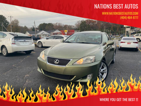 2006 Lexus IS 250 for sale at Nations Best Autos in Decatur GA