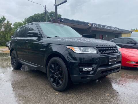 2016 Land Rover Range Rover Sport for sale at Texas Luxury Auto in Houston TX