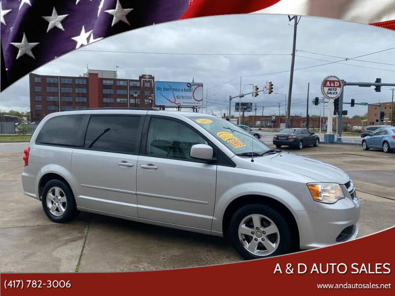 2012 Dodge Grand Caravan for sale at A & D Auto Sales in Joplin MO