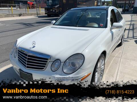 2008 Mercedes-Benz E-Class for sale at Vanbro Motors Inc in Staten Island NY