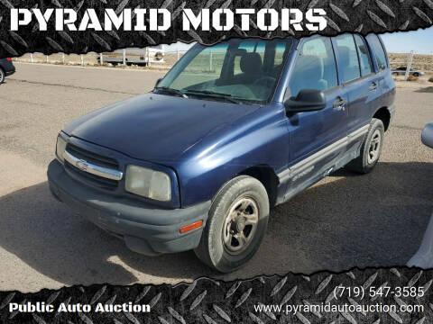 2001 Chevrolet Tracker for sale at PYRAMID MOTORS - Pueblo Lot in Pueblo CO