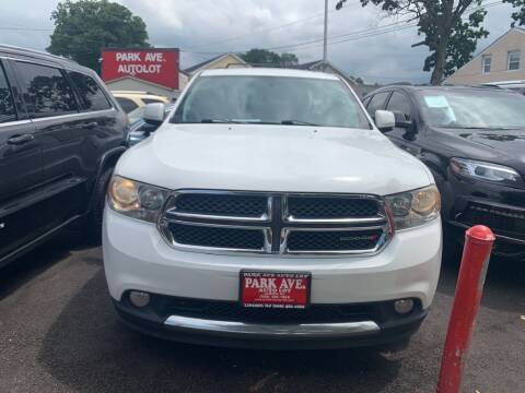 2013 Dodge Durango for sale at Park Avenue Auto Lot Inc in Linden NJ