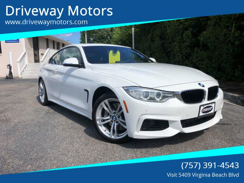 2014 BMW 4 Series for sale at Driveway Motors in Virginia Beach VA