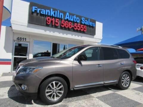 2014 Nissan Pathfinder for sale at Franklin Auto Sales in El Paso TX