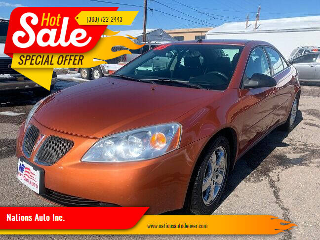 2005 Pontiac G6 for sale at Nations Auto Inc. in Denver CO