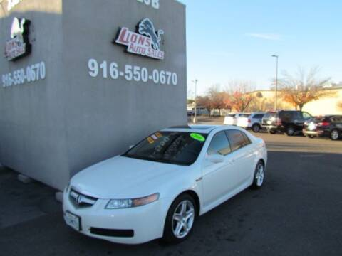 2006 Acura TL for sale at LIONS AUTO SALES in Sacramento CA