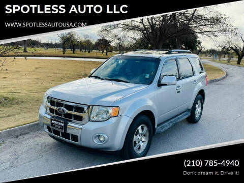 2011 Ford Escape for sale at SPOTLESS AUTO LLC in San Antonio TX