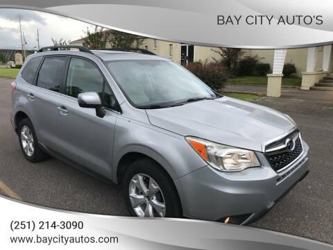 2014 Subaru Forester for sale at Bay City Auto's in Mobile AL