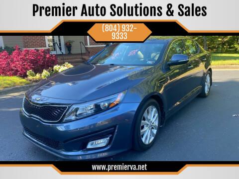 2015 Kia Optima for sale at Premier Auto Solutions & Sales in Quinton VA