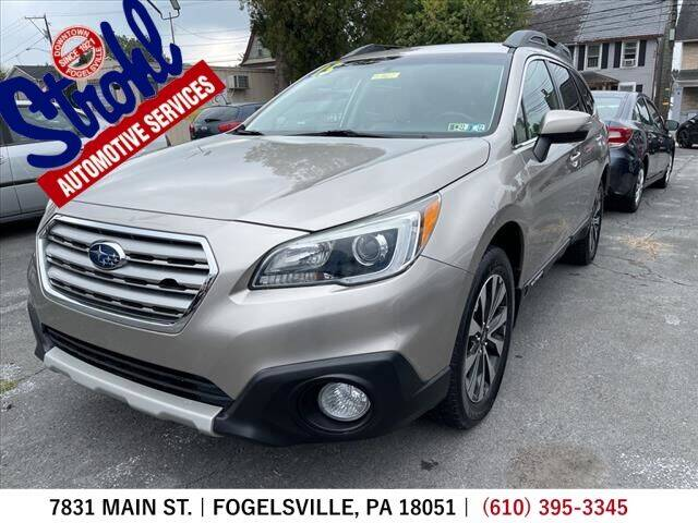 2015 Subaru Outback for sale at Strohl Automotive Services in Fogelsville PA