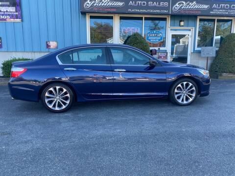 2013 Honda Accord for sale at Platinum Auto in Abington MA