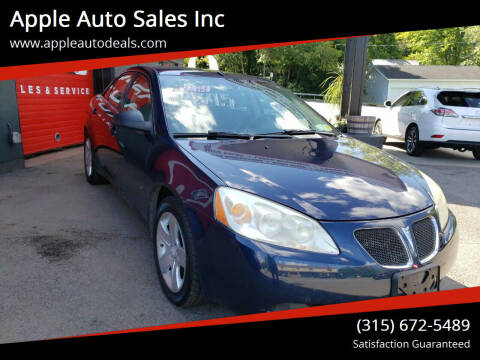 2009 Pontiac G6 for sale at Apple Auto Sales Inc in Camillus NY