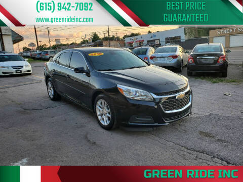 2016 Chevrolet Malibu Limited for sale at Green Ride Inc in Nashville TN