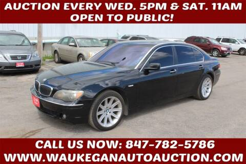 2006 BMW 7 Series for sale at Waukegan Auto Auction in Waukegan IL