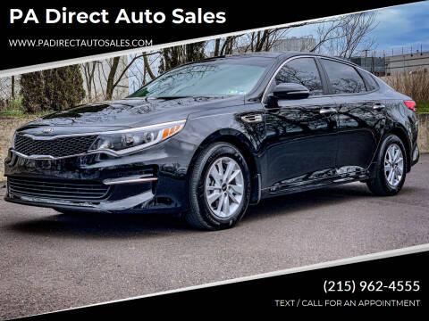 2017 Kia Optima for sale at PA Direct Auto Sales in Levittown PA