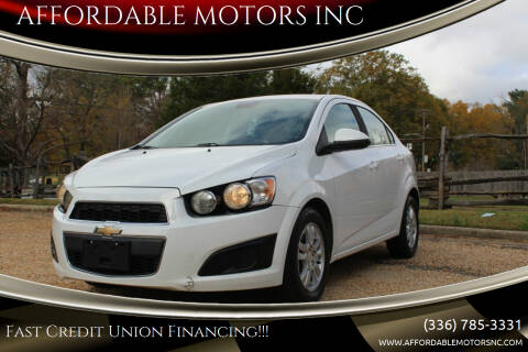 2012 Chevrolet Sonic for sale at AFFORDABLE MOTORS INC in Winston Salem NC