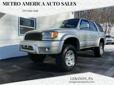 2000 Toyota 4Runner for sale at METRO AMERICA AUTO SALES of Lebanon in Lebanon PA