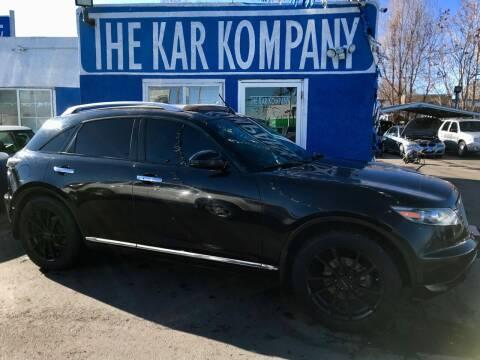 2006 Infiniti FX35 for sale at The Kar Kompany Inc. in Denver CO