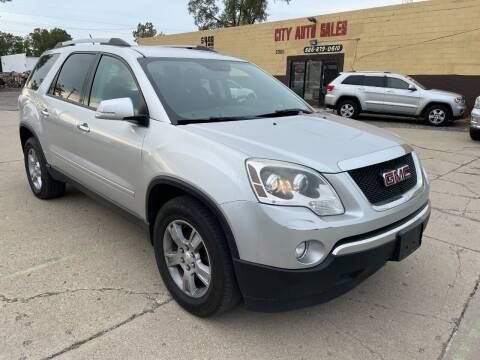 2012 GMC Acadia for sale at City Auto Sales in Roseville MI