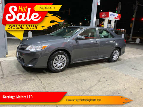 2012 Toyota Camry for sale at Carriage Motors LTD in Ingleside IL