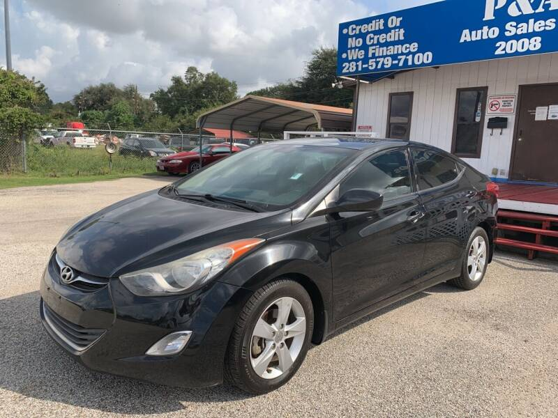 2013 Hyundai Elantra for sale at P & A AUTO SALES in Houston TX