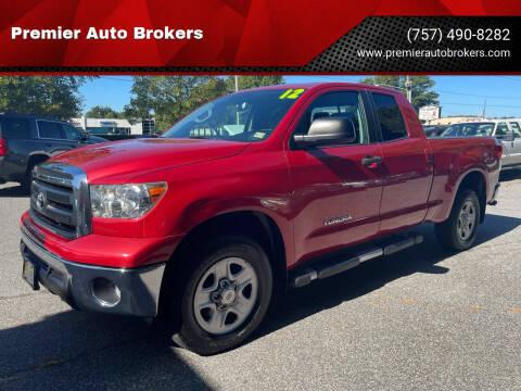 2012 Toyota Tundra for sale at Premier Auto Brokers in Virginia Beach VA