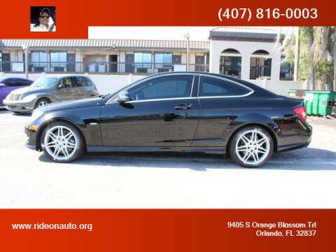 2013 Mercedes-Benz C-Class for sale at Ride On Auto in Orlando FL